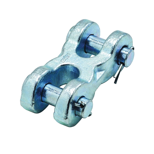 Picture of National Hardware 3248BC Series N830-311 Clevis Link, 5/8 in Trade, 13,000 lb Working Load, 43 Grade, Steel, Zinc