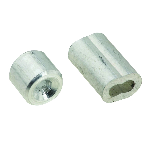 Picture of National Hardware SPB3231 Series N830-350 Ferrule and Stop, 1/16 in Dia Cable, Aluminum