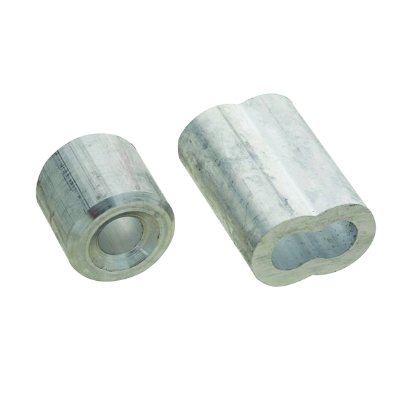 Picture of National Hardware SPB3231 Series N830-355 Ferrule and Stop, 1/4 in Dia Cable, Aluminum
