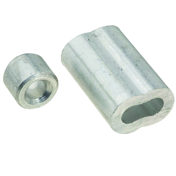 Picture of National Hardware SPB3231 Series N830-354 Ferrule and Stop, 3/16 in Dia Cable, Aluminum