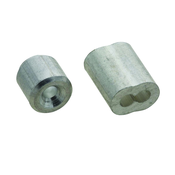 Picture of National Hardware SPB3231 Series N830-351 Ferrule and Stop, 3/32 in Dia Cable, Aluminum