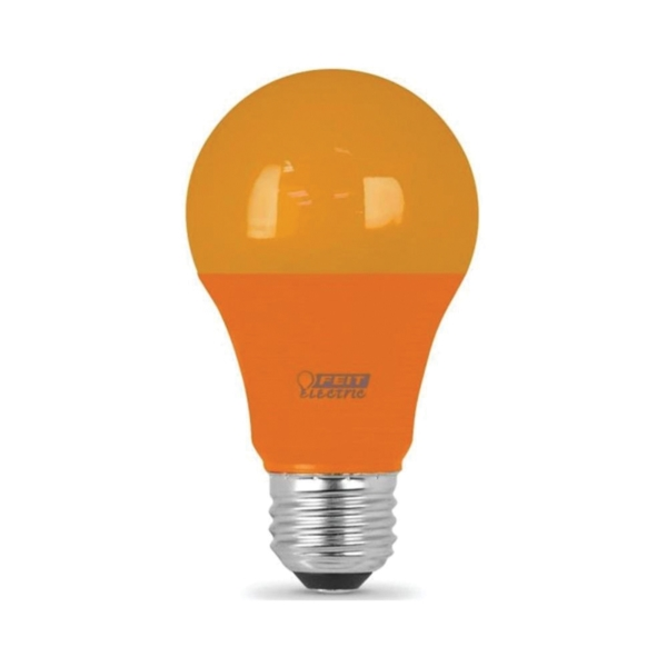 Picture of Feit Electric A19/O/10KLED LED Lamp, 3.5 W, Medium E26 Lamp Base, A19 Lamp, Orange Light, 11,000 hr Average Life