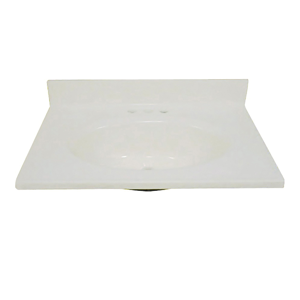 Picture of Foremost BS-2225 Vanity Top, 25 in OAL, 22 in OAW, Marble, Bone, Countertop Edge