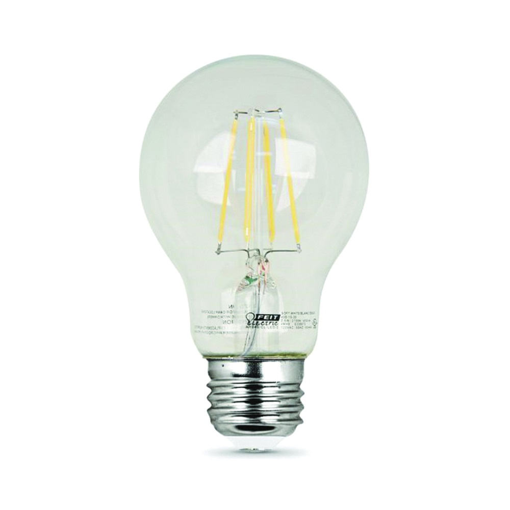 Picture of Feit Electric A1960/CL/850/LED/2 LED Lamp, 9 W, Medium E26 Lamp Base, A19 Lamp, Daylight Light, 800 Lumens