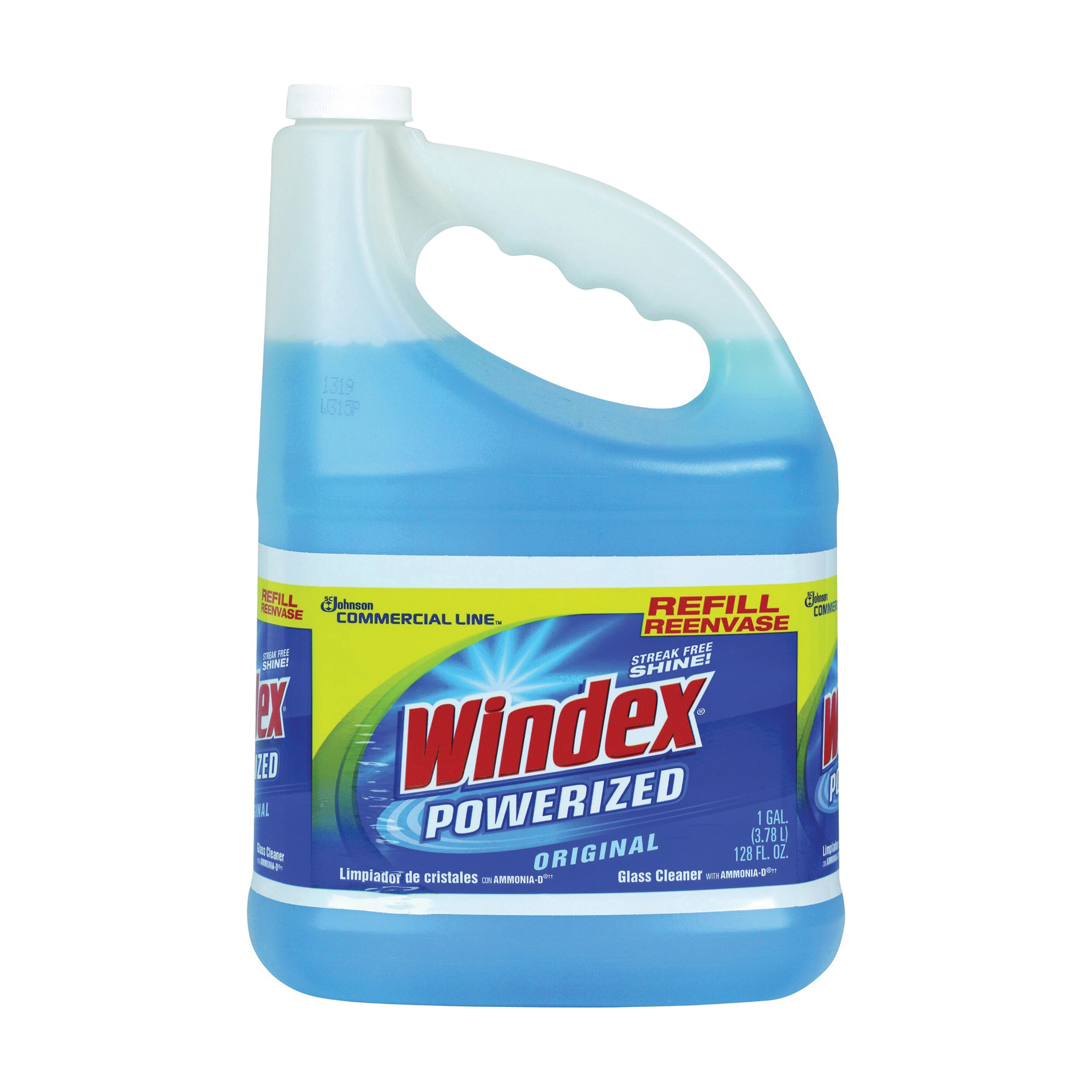 Picture of Windex 12207 Glass Cleaner Refill, 128 oz Package, Bottle, Liquid, Pleasant, Blue