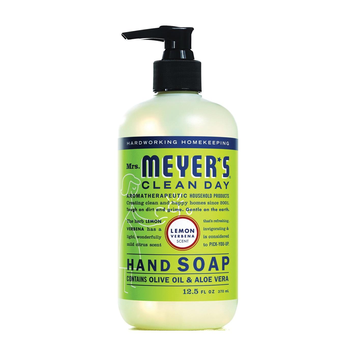 Picture of Mrs. Meyer's 12104 Hand Soap, Liquid, Lemon Verbena, 12.5 oz Package, Bottle