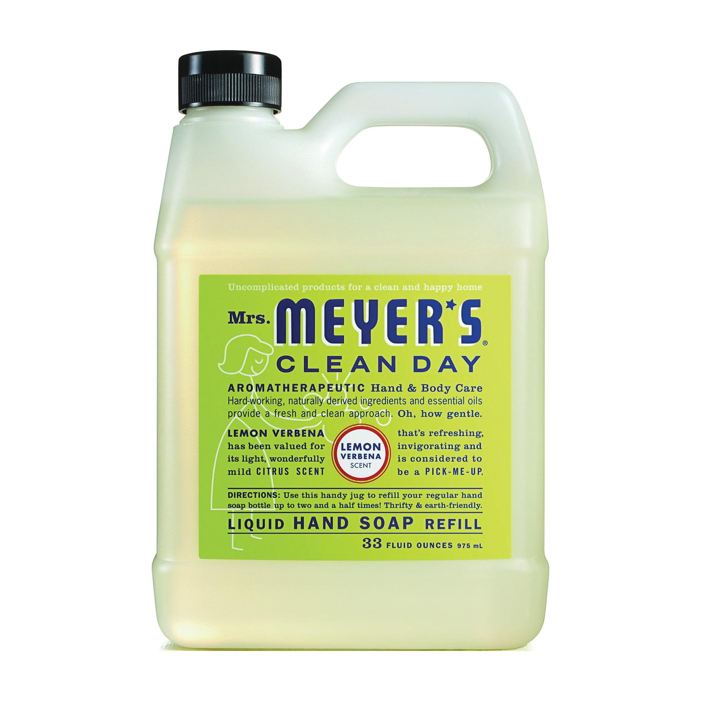Picture of Mrs. Meyer's 12163 Hand Soap Refill, Liquid, Lemon Verbena, 33 oz Package, Jug