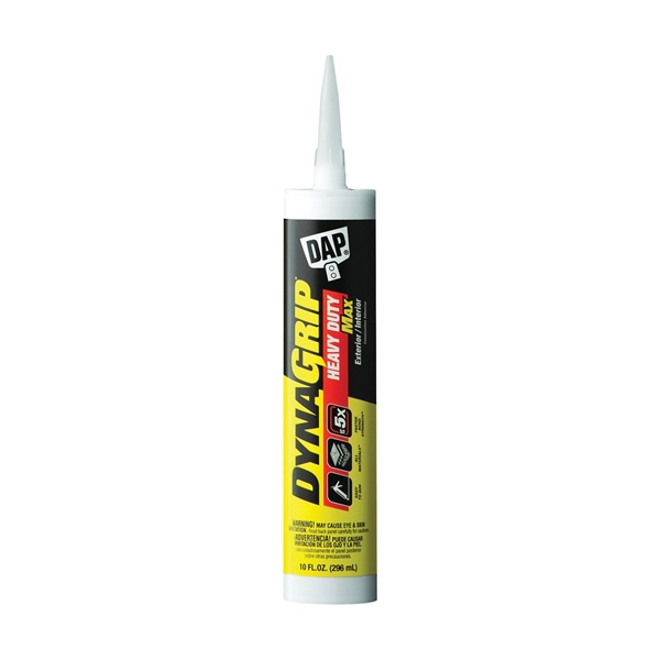 Picture of DAP DYNAGRIP 27511 Construction Adhesive, White, 9 oz Package, Cartridge