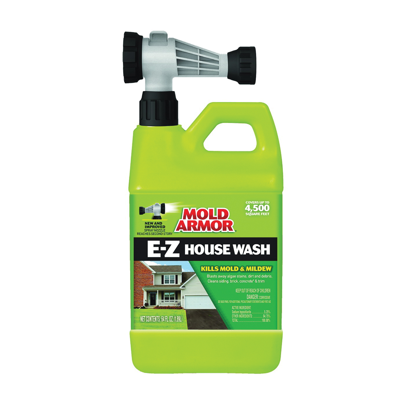 Picture of Mold Armor FG51164 House Wash Hose End, Liquid, Yellow, 64 oz, Can