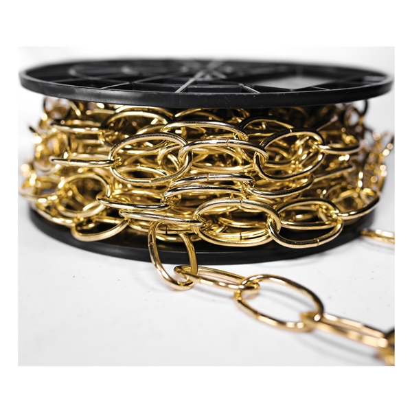 Picture of BARON 2200 Decorator Chain, #10 Trade, 40 ft L, Brass