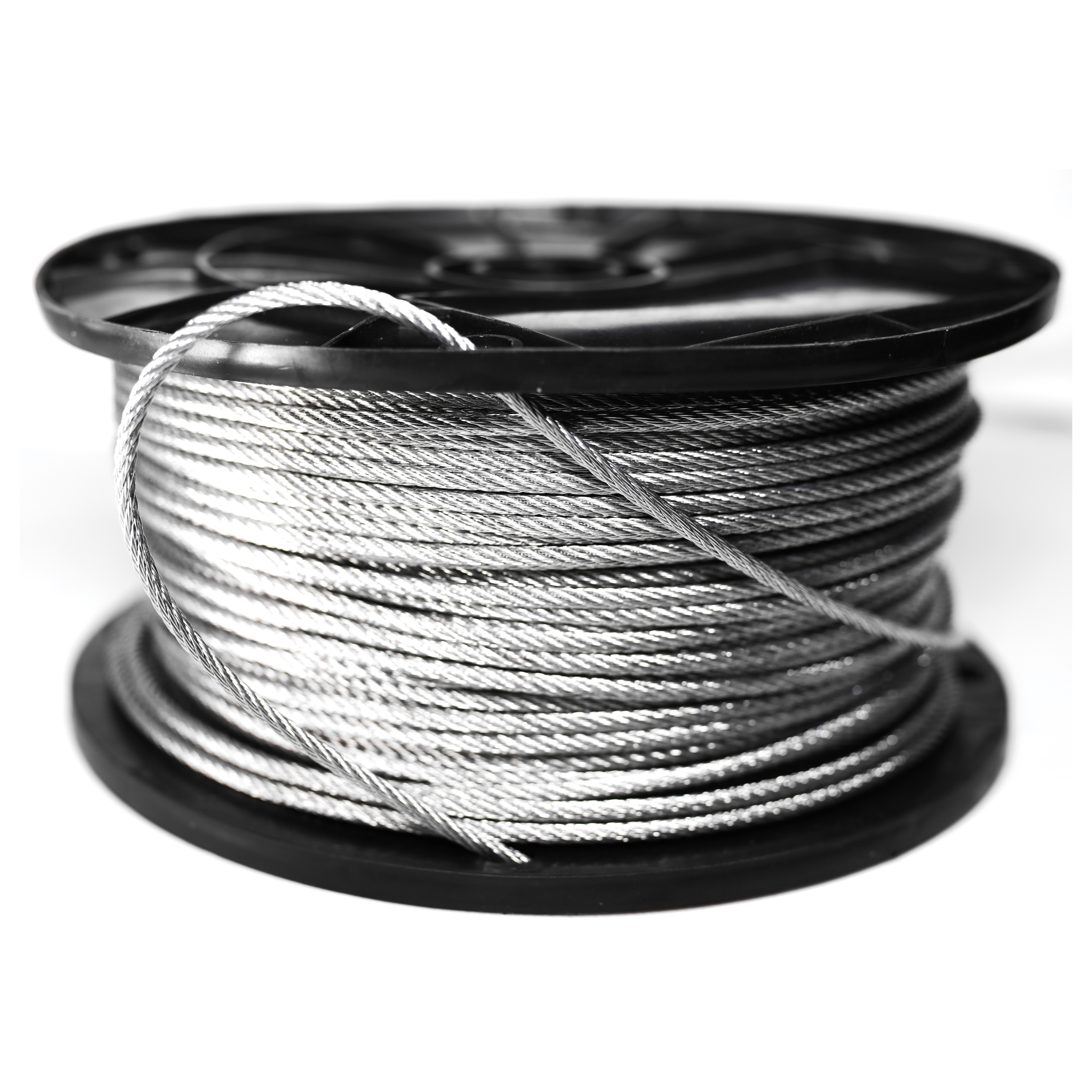 Picture of BARON 695910 Aircraft Cable, 1/8 in Dia, 500 ft L, 400 lb Working Load, Galvanized