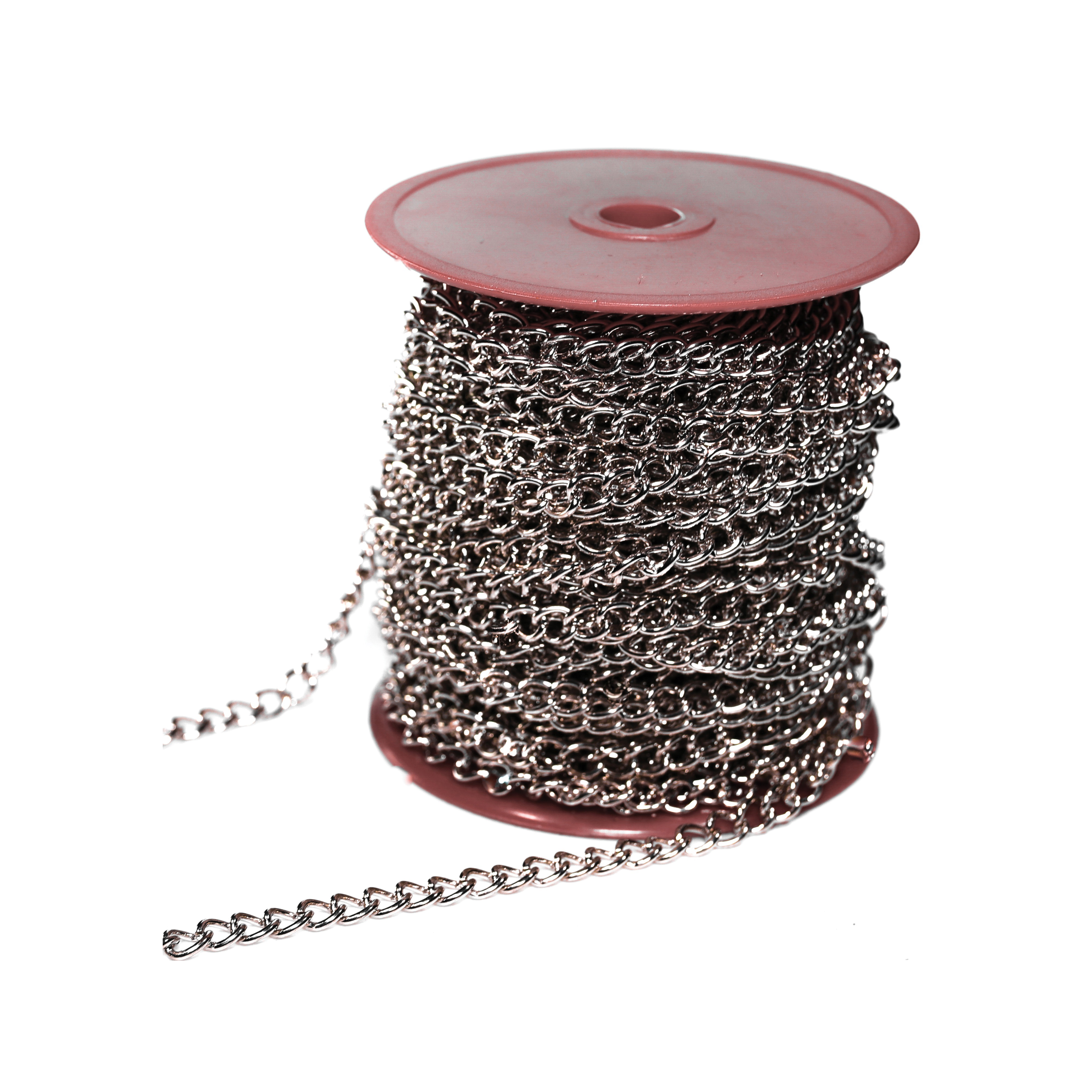 Picture of BARON 7209 Twist Link Chain, #90 Trade, 82 ft L, 9 lb Working Load, Nickel