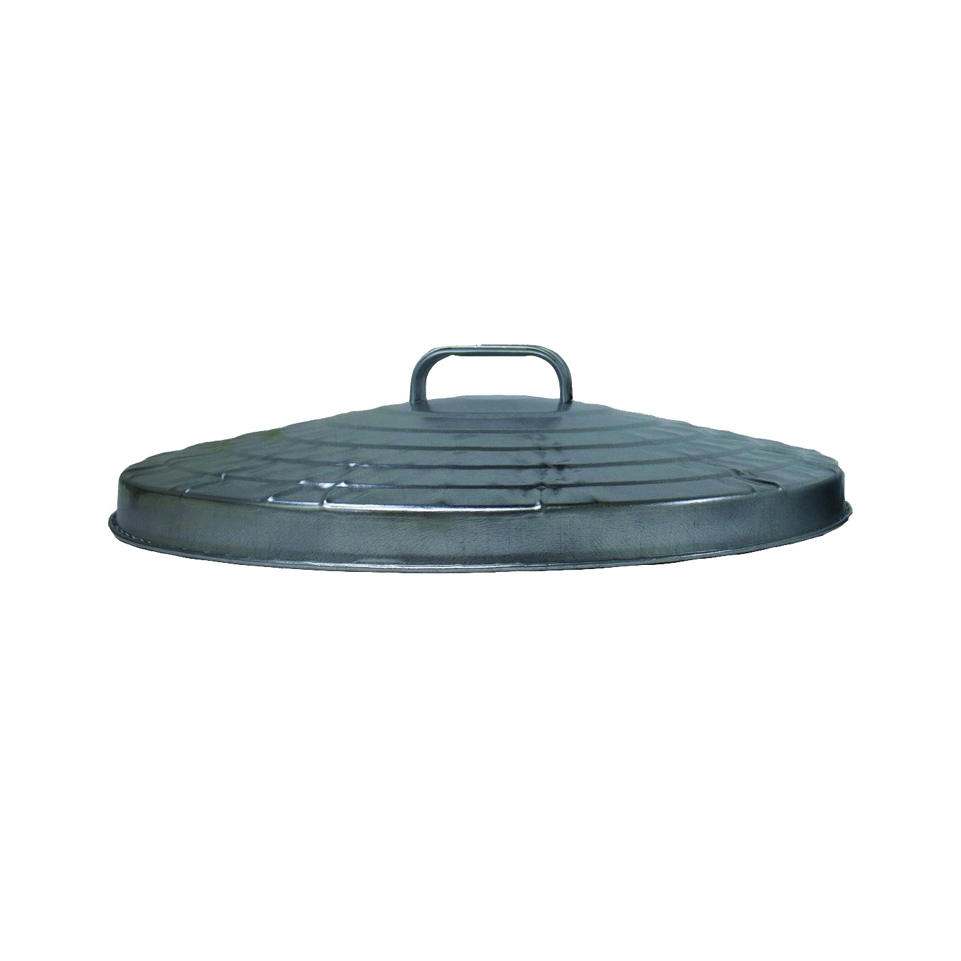Picture of Behrens 38113 Trash Can Lid, Galvanized Steel, Silver, For: 31 gal Cans