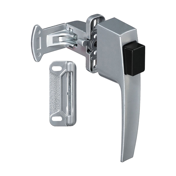 Picture of National Hardware V1326 Series N178-400 Pushbutton Latch, Zinc, 5/8 to 2 in Thick Door, For: Doors