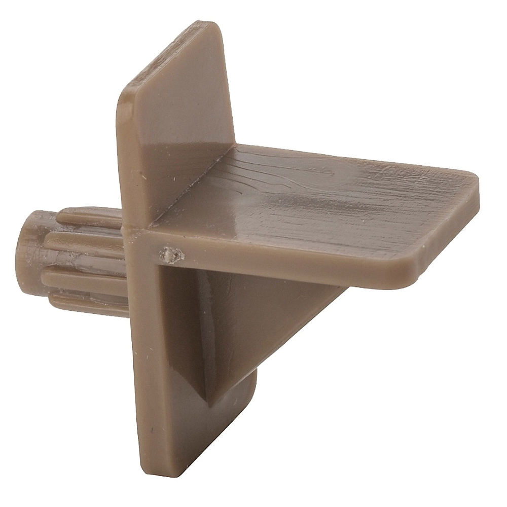 Picture of National Hardware V159P Series N224-683 Shelf Support, 25 lb, Plastic, Tan, 8