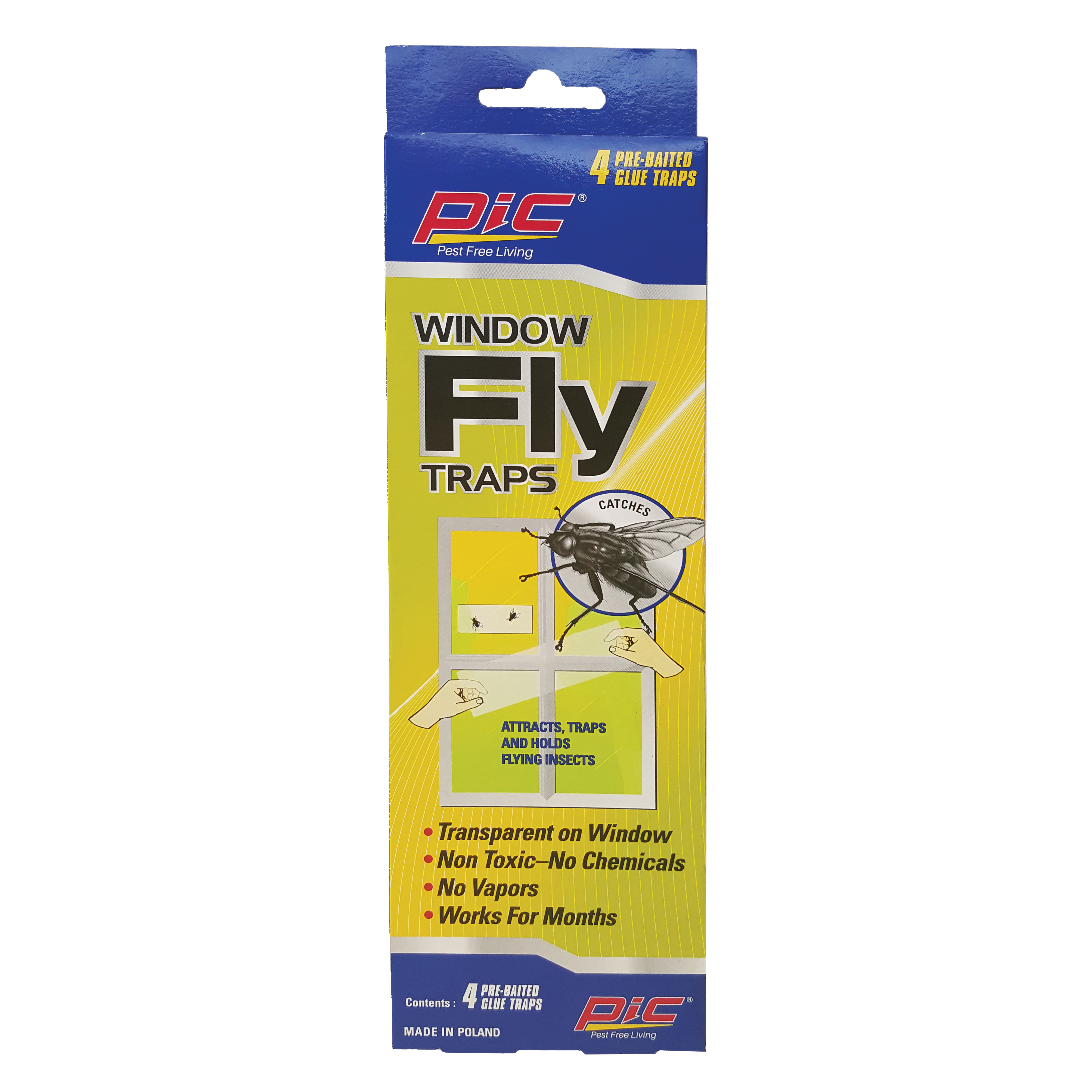Picture of Pic FTRP Window Fly Trap, Solid, Characteristic