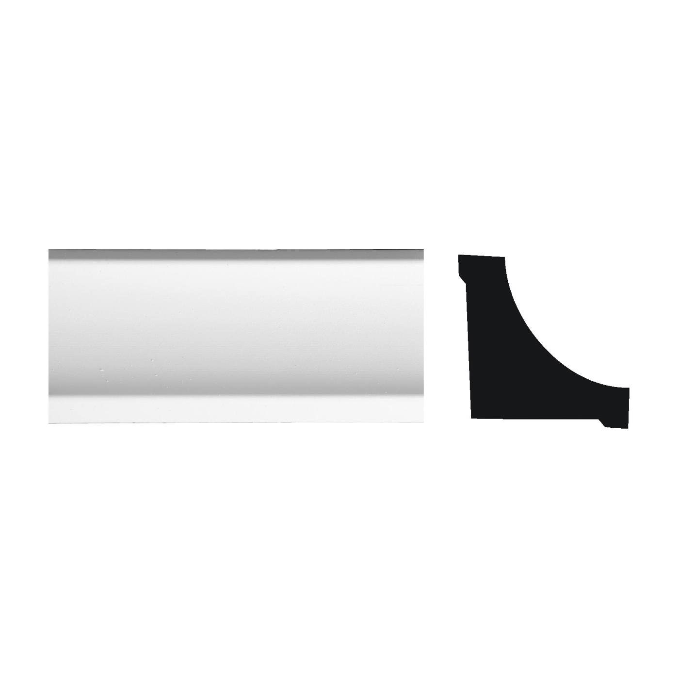 Picture of Royal 5073487 Corner Molding, 8 ft L, 3/4 in W, PVC, White