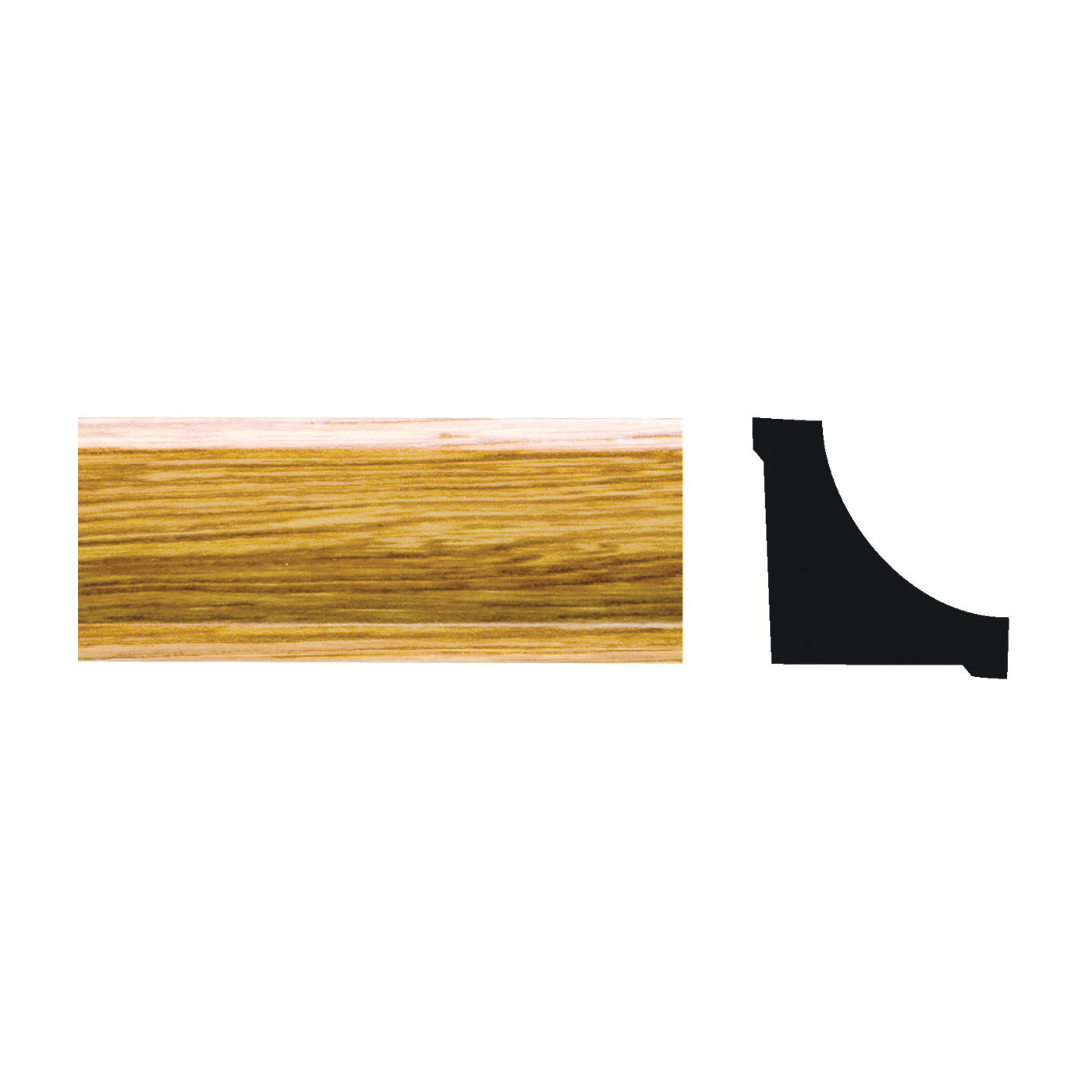 Picture of Royal 5073461 Corner Molding, 8 ft L, 3/4 in W, PVC, Imperial Oak
