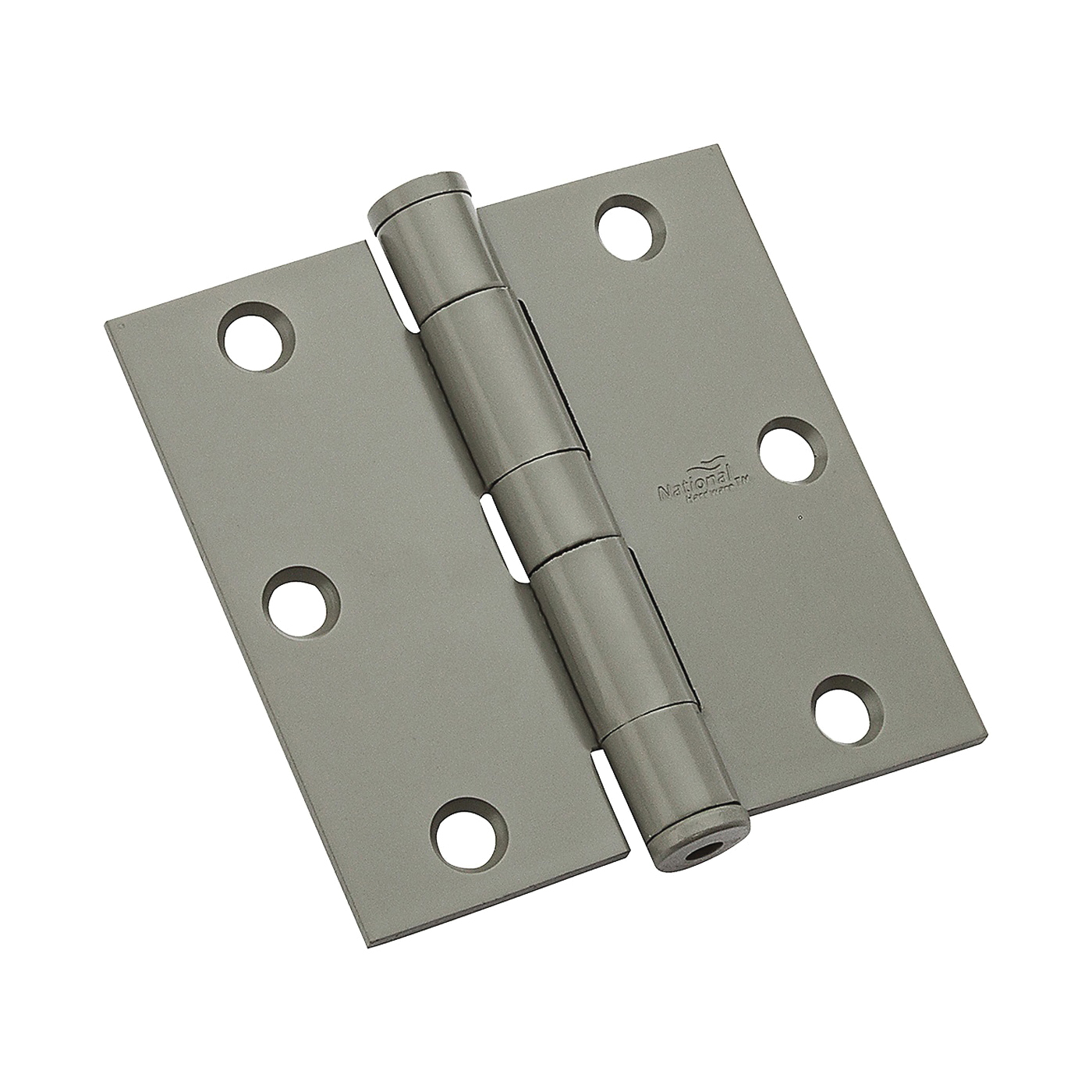 Picture of National Hardware N236-017 Template Hinge, Steel, Prime Coat, Non-Rising, Removable Pin, 80 lb