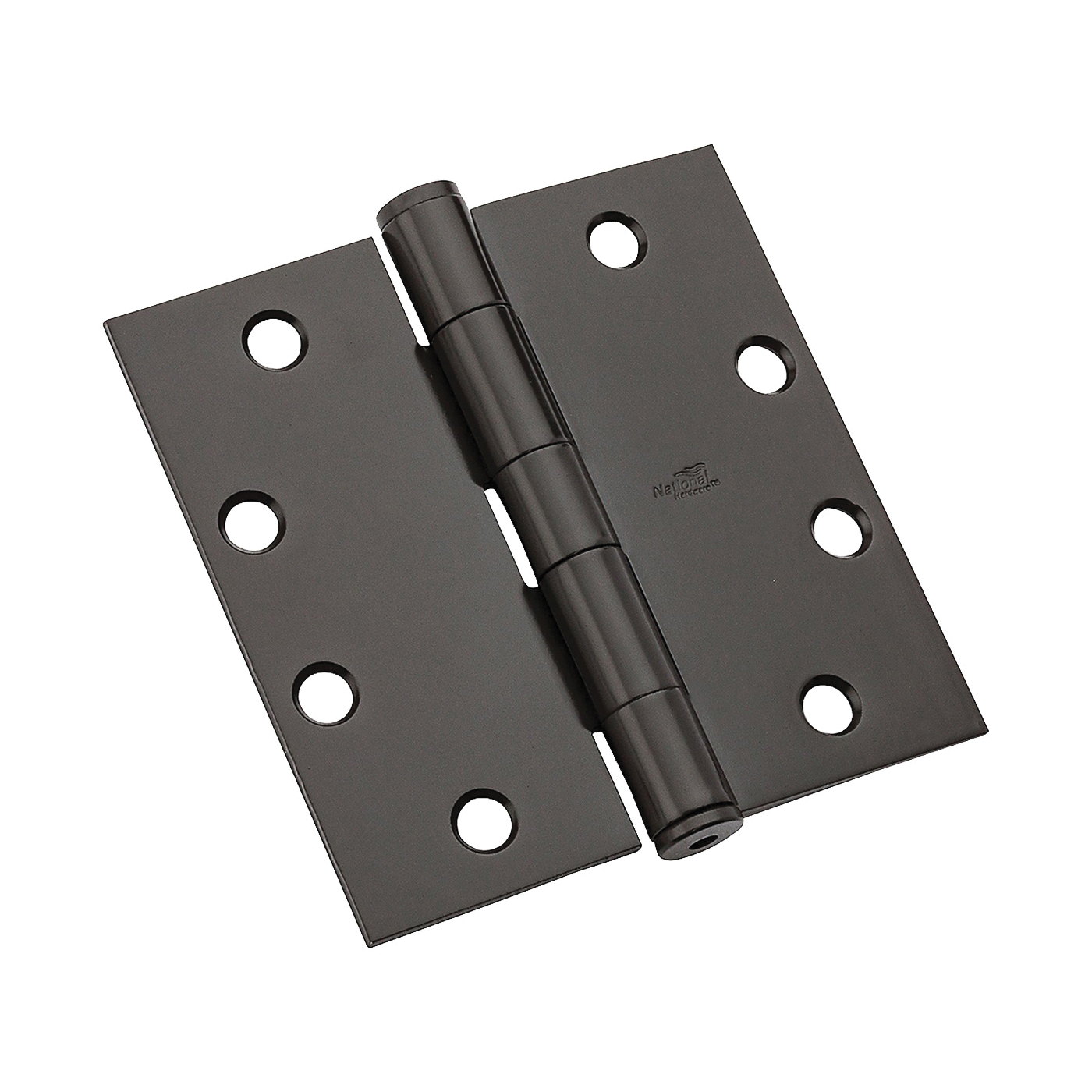 Picture of National Hardware DPB179 Series N236-018 Template Hinge, 4-1/2 in H Frame Leaf, 1.3875 in Thick Frame Leaf, Steel