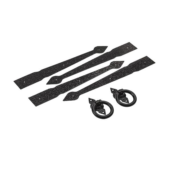 Picture of National Hardware V8414 Series N109-018 Spear Gate Kit, Steel, Black, 1-Piece
