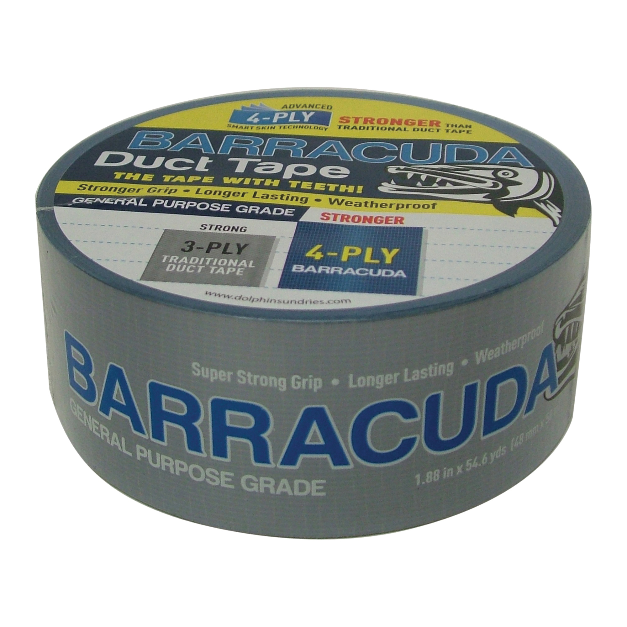Picture of Barracuda TP DUCT BARA BLU Duct Tape, 54.6 yd L, 1.88 in W, Blue/Silver