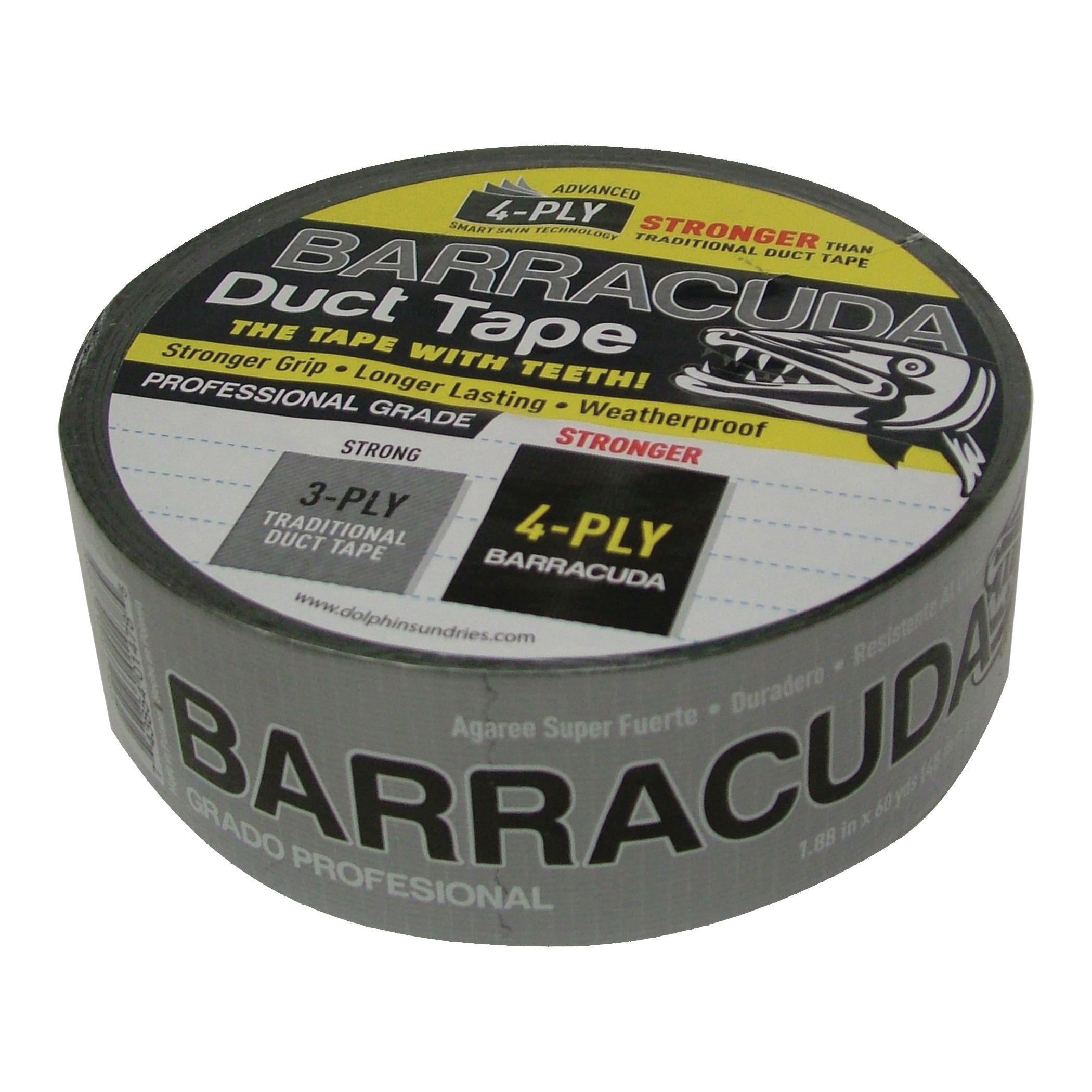 Picture of Barracuda TP DUCT BARA BLK Duct Tape, 60 yd L, 1.88 in W, Black/Silver