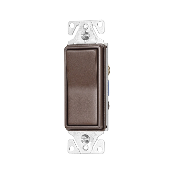 Picture of Eaton Wiring Devices 7500 Series 7503RB-K-L Rocker Switch, 15 A, 120/277 V, 3-Way, Thermoplastic Housing Material