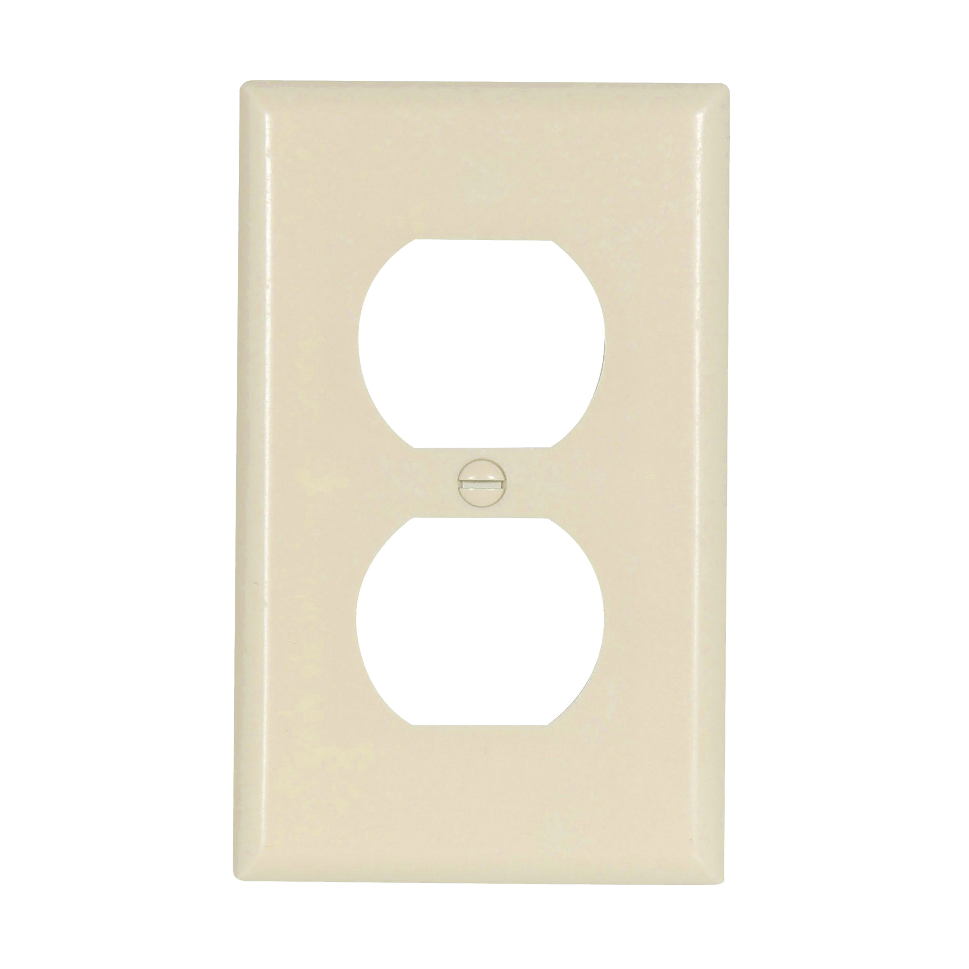 Picture of Eaton Wiring Devices 2132LA-BOX Duplex Receptacle Wallplate, 4-1/2 in L, 2-3/4 in W, 1-Gang, Thermoset, High-Gloss