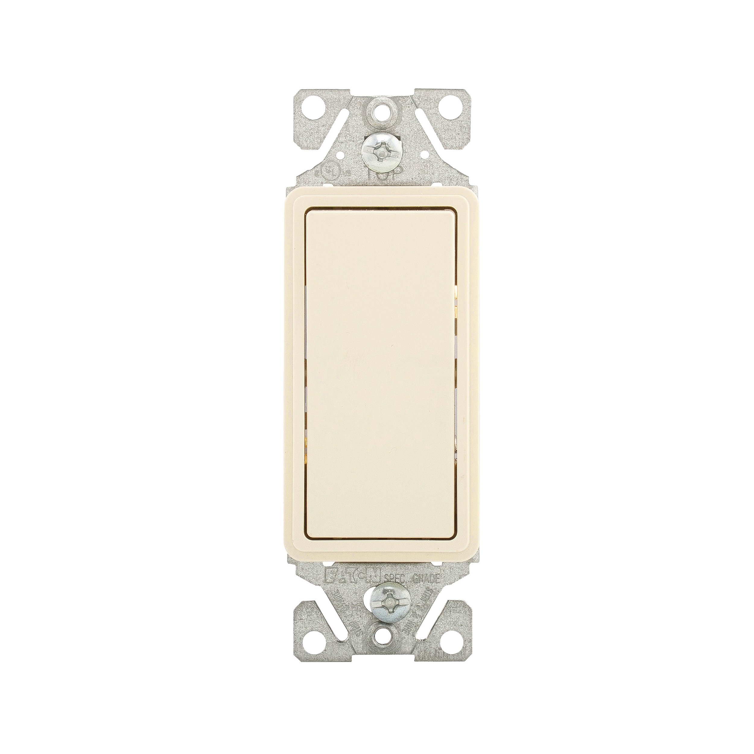 Picture of Eaton Wiring Devices 7500 Series 7503LA-BOX Rocker Switch, 15 A, 120/277 V, 3-Way, Lead Wire Terminal, Light Almond