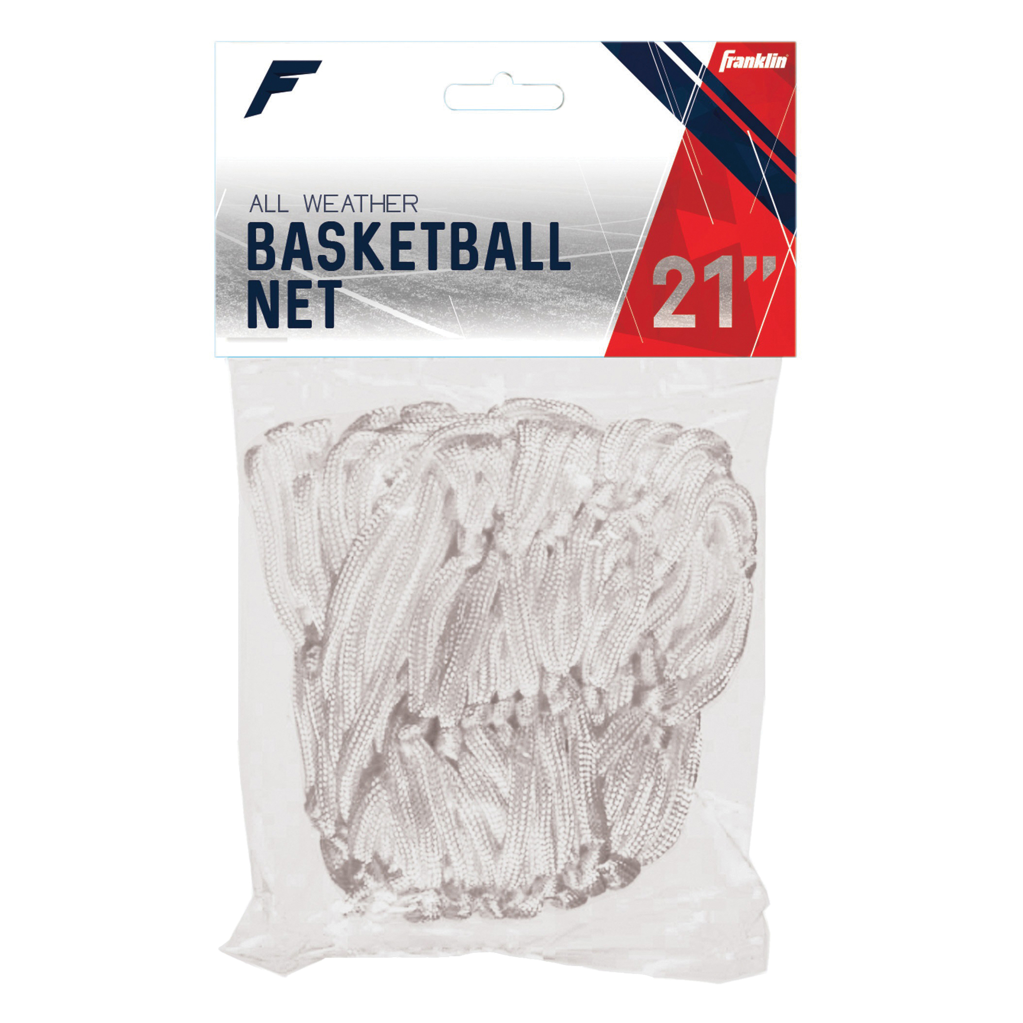 Picture of Franklin Sports 1640 All-Weather Basketball Net, 21 in Dia, Nylon, White, 12, Pack