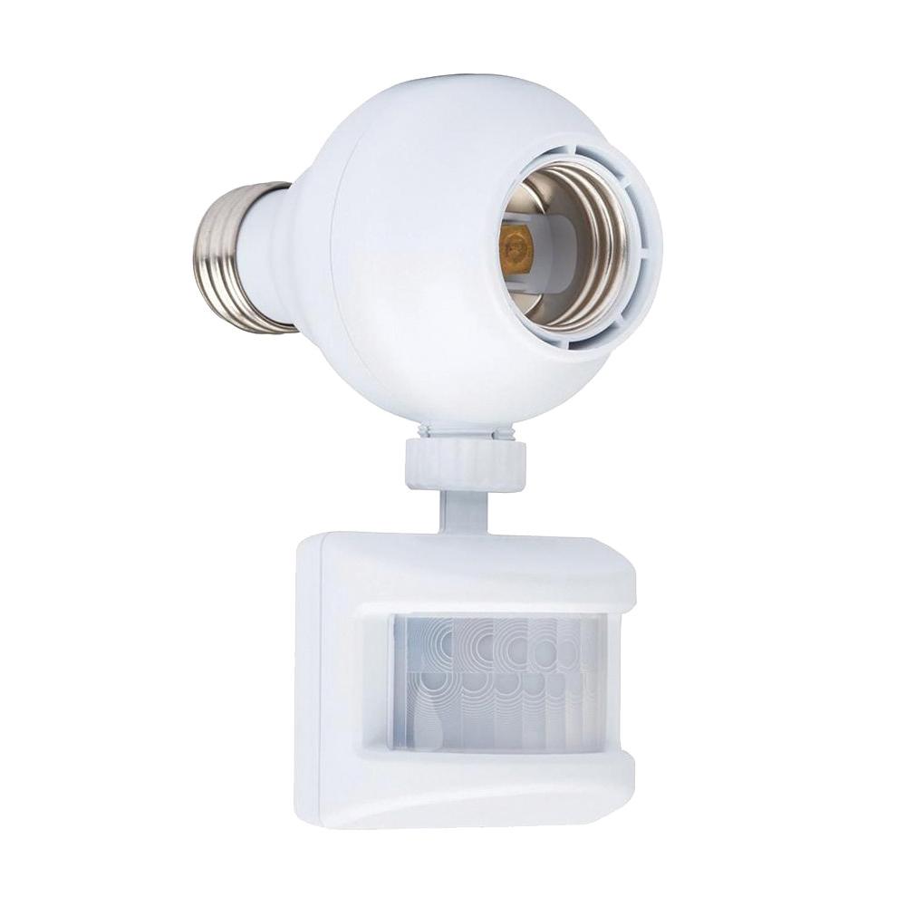 Picture of Westek OMLC163BC Motion Activated Light Control, 120 V, Motion Sensor, 180 deg Sensing, 30 ft Sensing, White