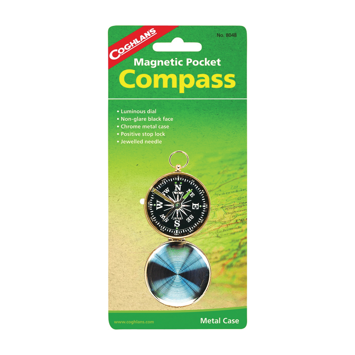 Picture of COGHLAN'S 8048 Pocket Compass, Magnetic, Metal
