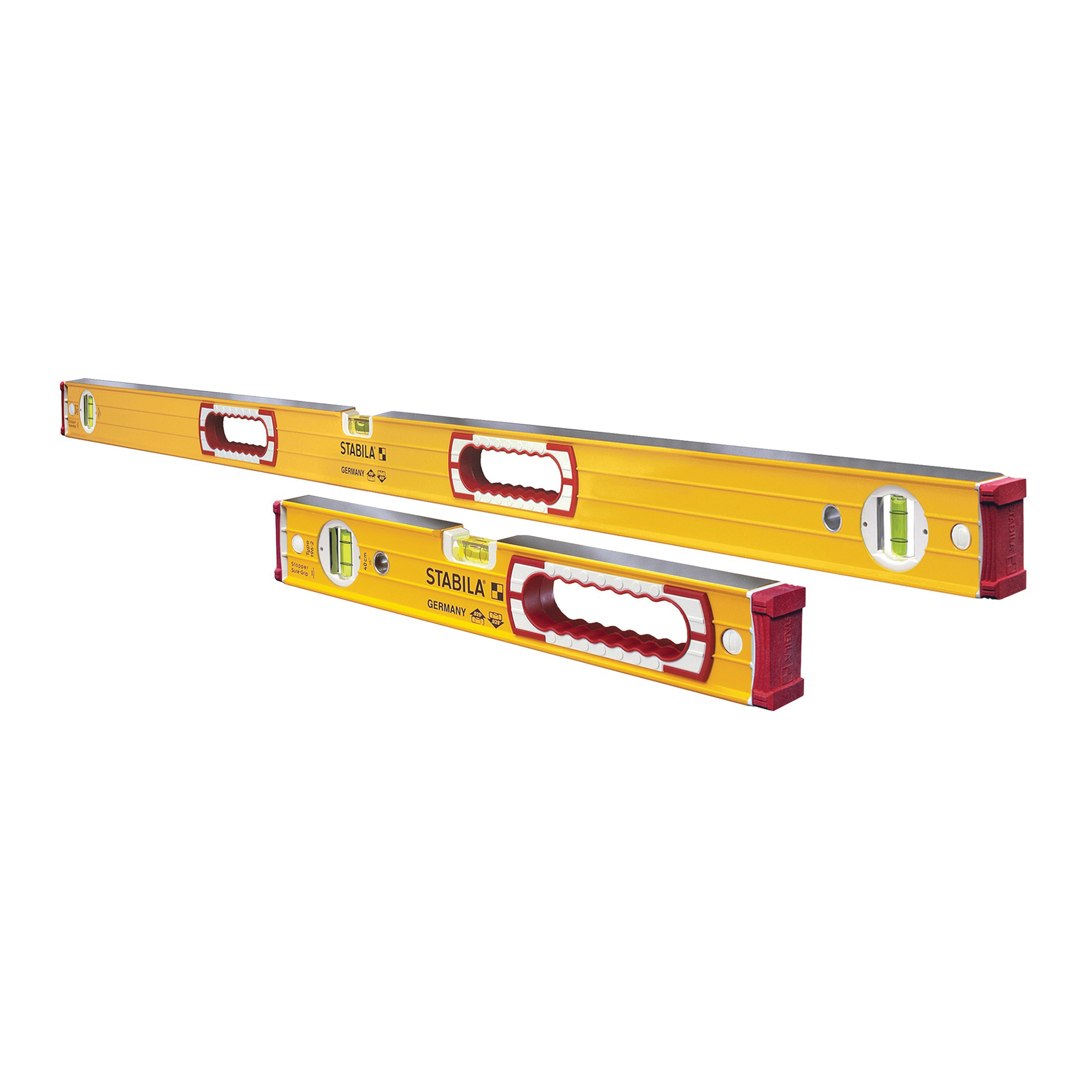 Picture of Stabila 37816 Beam Level Set, 5 -Vial, Aluminum, Yellow