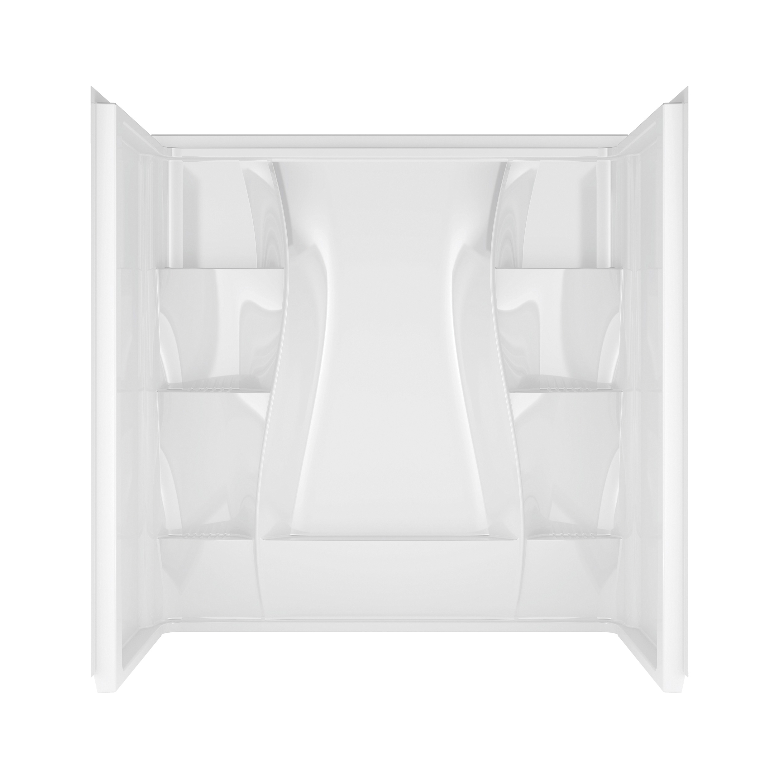 Picture of DELTA 40044 Bathtub Wall Set, 60.38 in H, 60 in W, Procrylic, White, Stud Installation