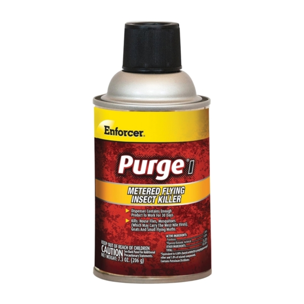 Picture of Enforcer Purge I EPMFIK7 Flying Insect Killer, Aerosol, Clear, Characteristic, 7.3 oz Package, Aerosol Can