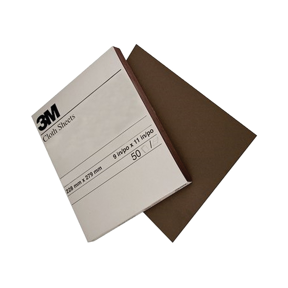 Picture of 3M 02431 Sanding Sheet, 11 in L, 9 in W, Fine, Aluminum Oxide Abrasive, Cloth Backing