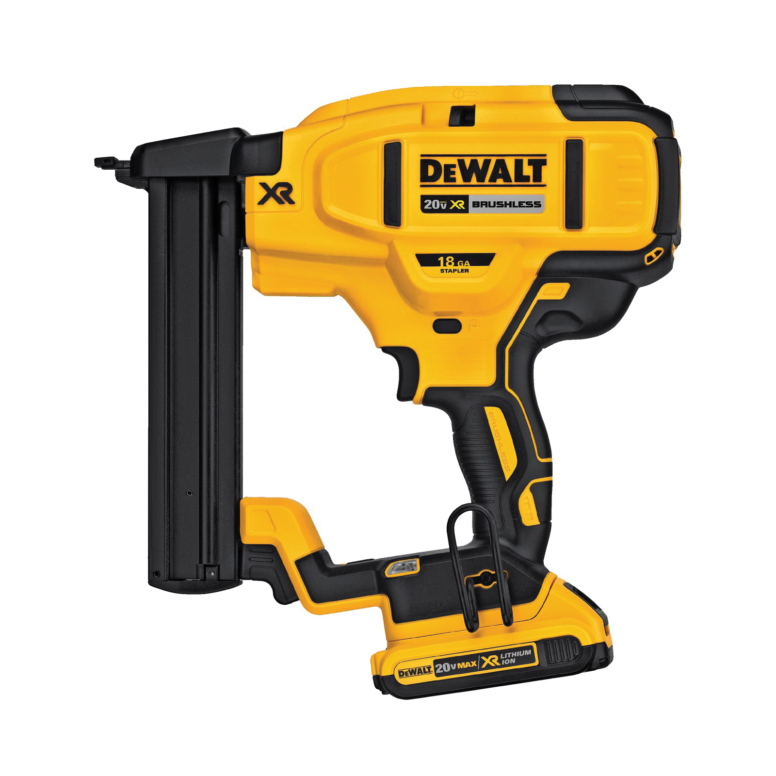 Picture of DeWALT DCN650B Nailer, Bare Tool, 20 V Battery, 110 Magazine, 34 deg Collation, 15 ga Nail, Battery Included: No