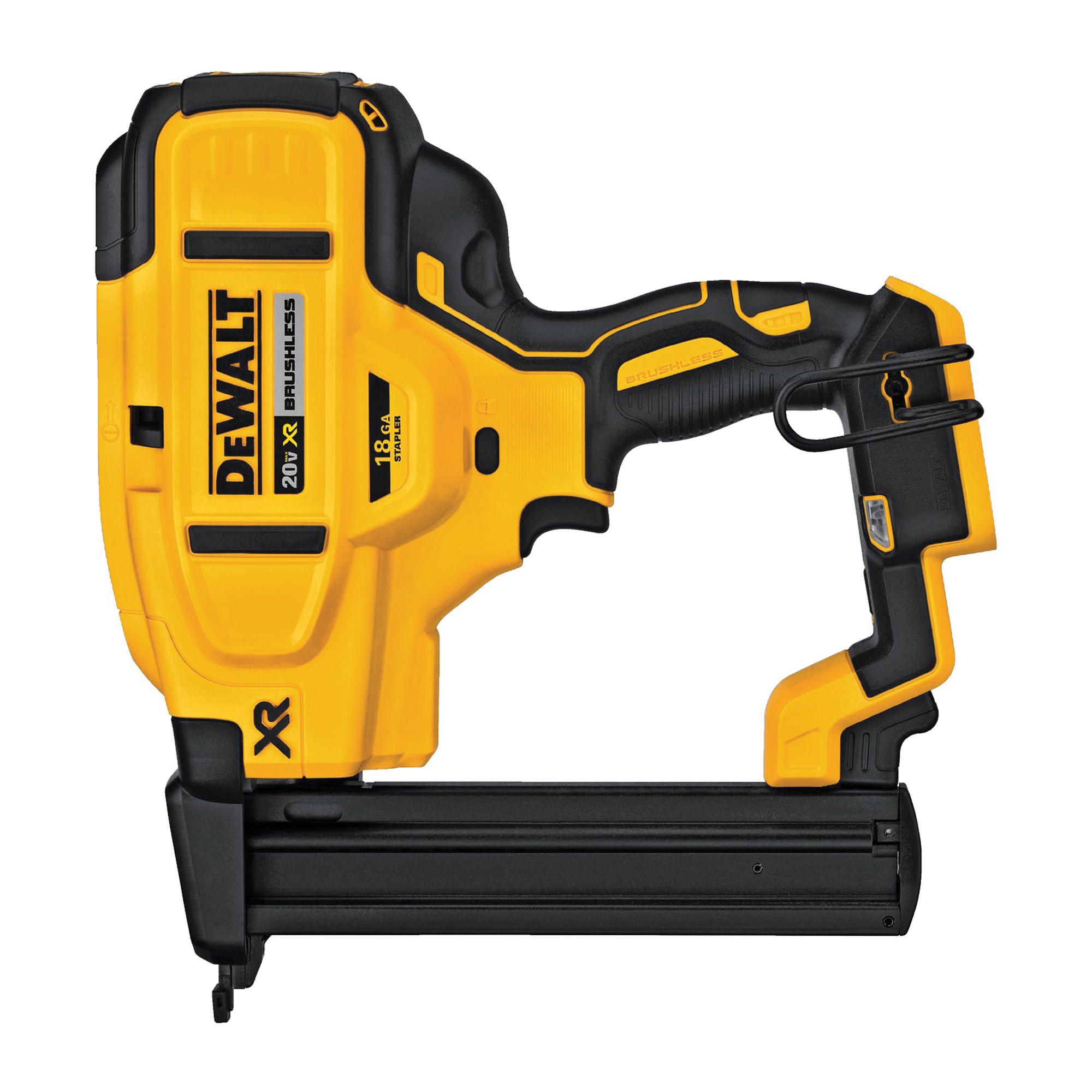 Picture of DeWALT XR Series DCN681B Stapler, Bare Tool, 20 V Battery, 4 Ah, 1/4 in W Crown, 1/2 to 1-1/2 in L Leg