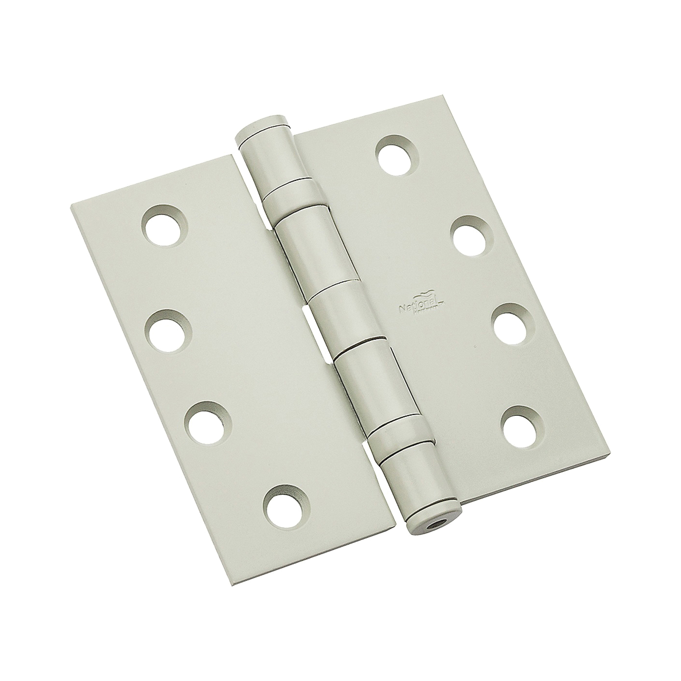 Picture of National Hardware 179 Series N236-104 Ball Bearing Hinge, 4-1/2 in H Frame Leaf, Steel, Prime Coat, Screw Mounting