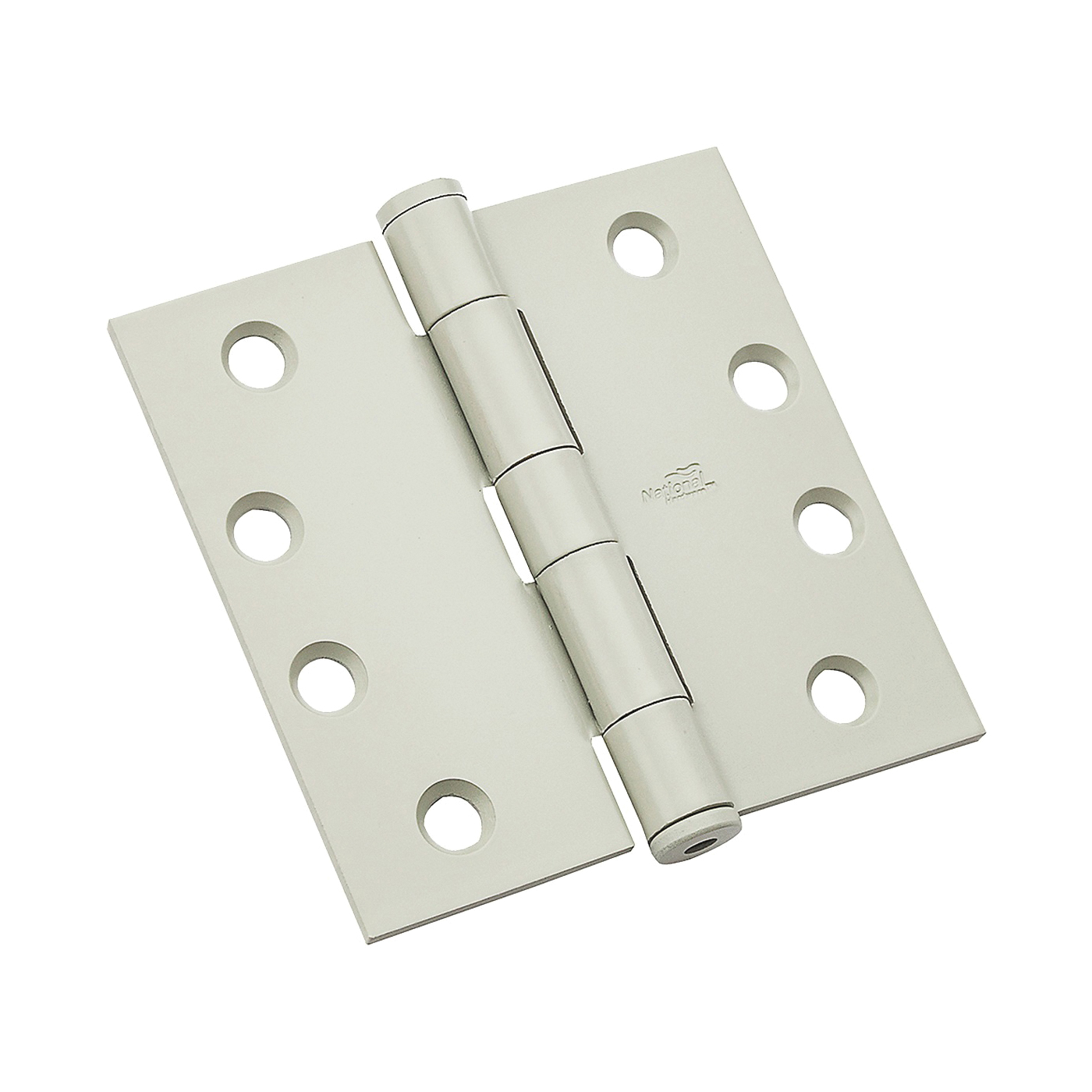 Picture of National Hardware 179 Series N236-124 Standard Weight Template Hinge, 4 in H Frame Leaf, Steel, Prime Coat, 85 lb