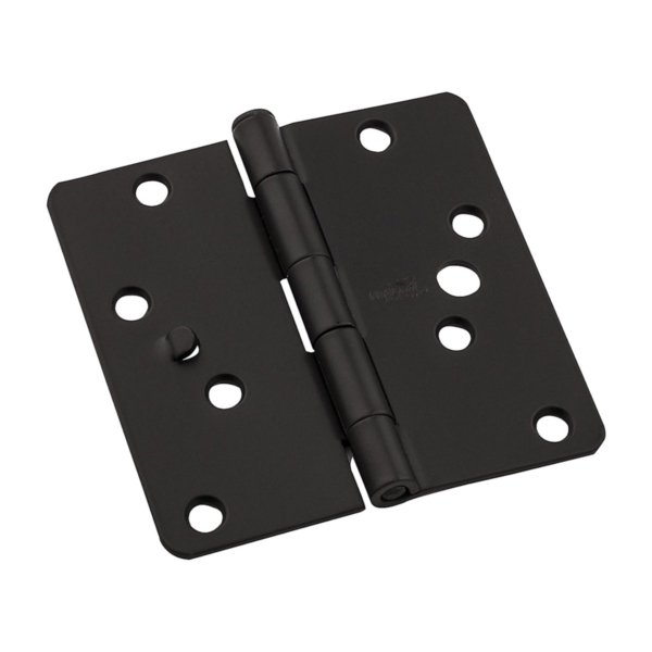 Picture of National Hardware 512RC Series N830-416 Door Hinge, 4 in H Frame Leaf, Steel, Oil-Rubbed Bronze, Screw Mounting