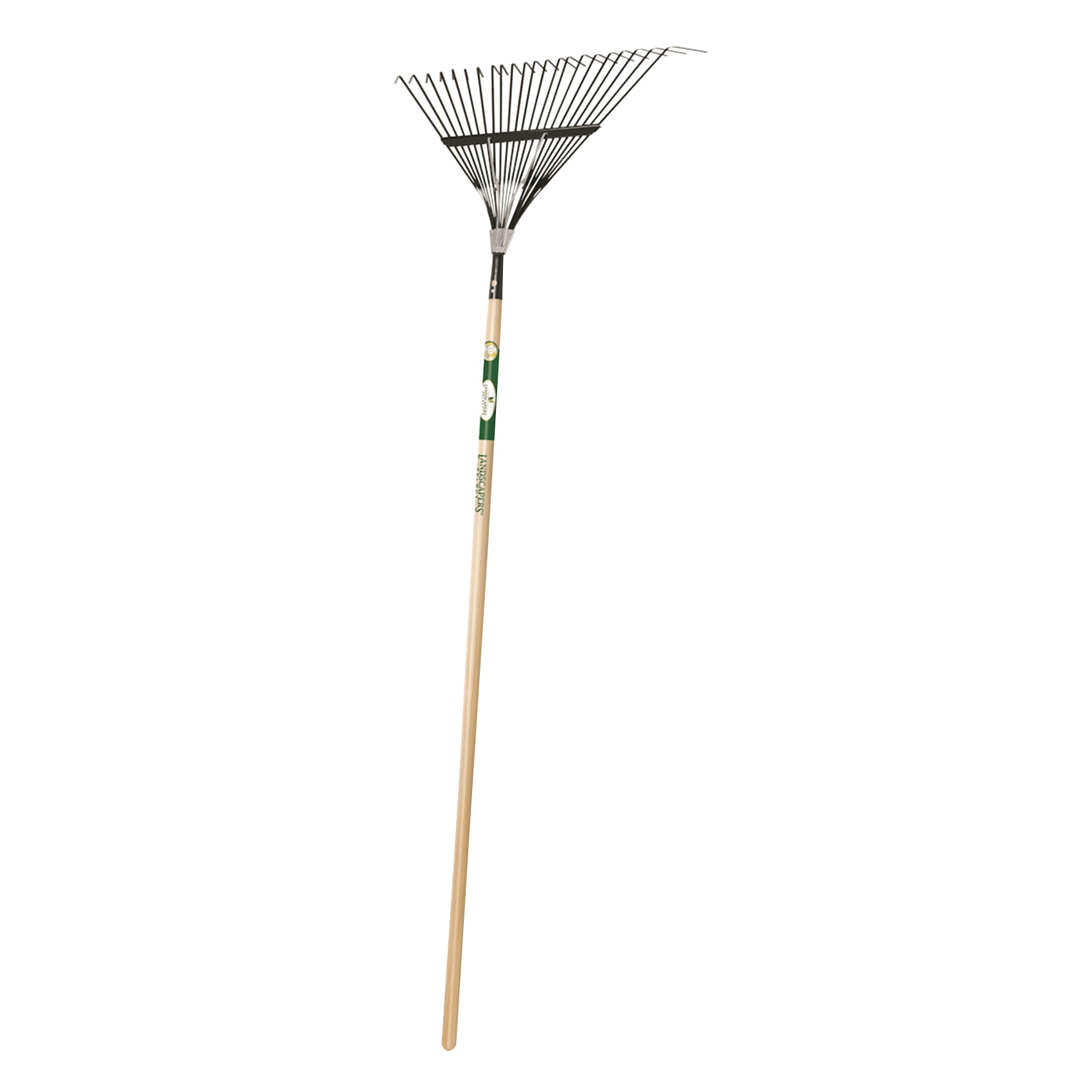 Picture of Landscapers Select 34585 Lawn/Leaf Rake, Steel Tine, 22 -Tine, Wood Handle, 54 in L Handle