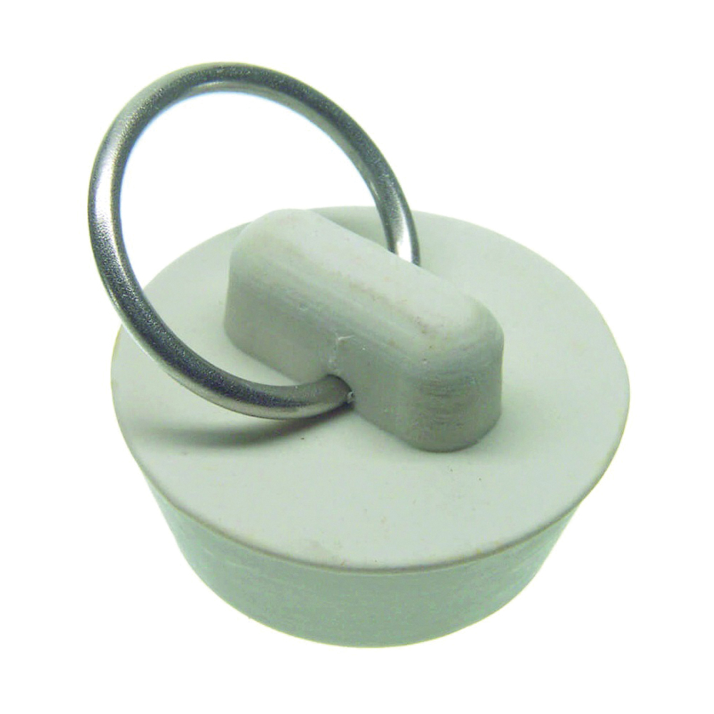 Picture of Danco 80223 Drain Stopper, Rubber, White, For: 1 in Drain, Universal Kitchen or Bathroom Sinks