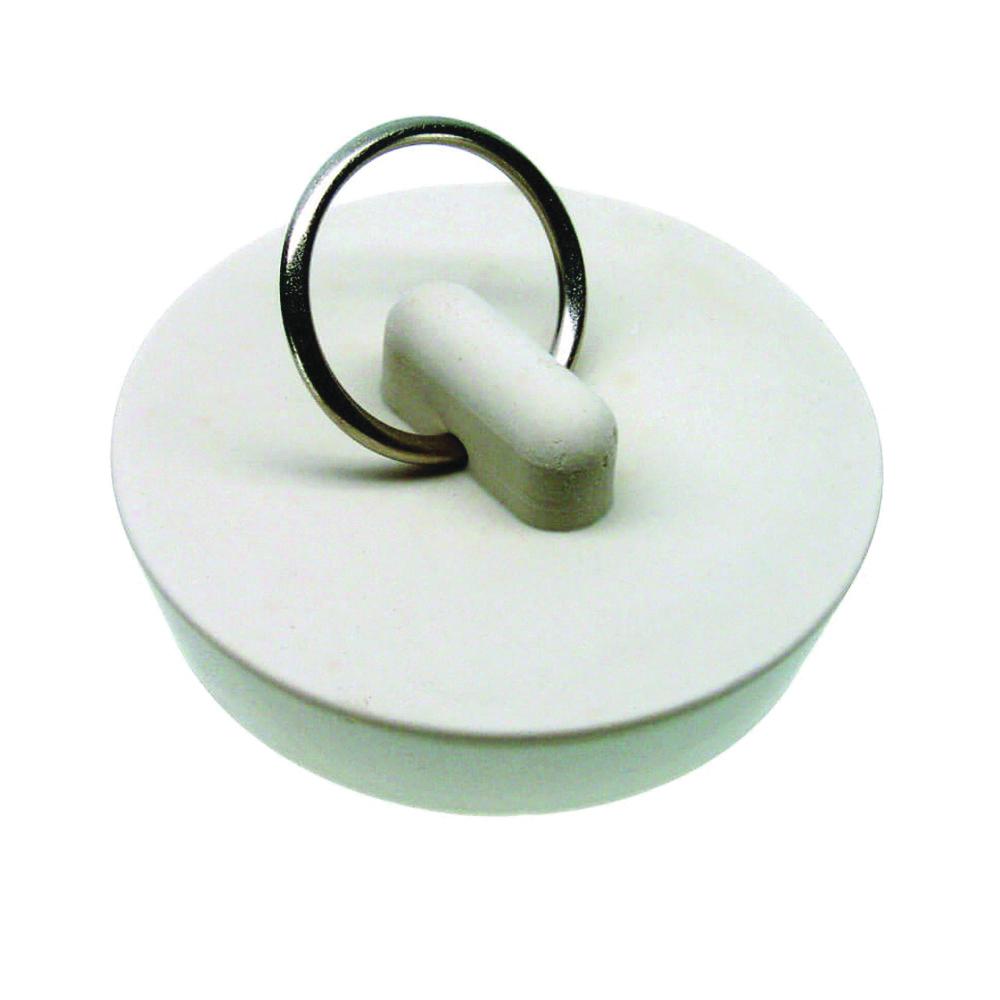 Picture of Danco 80228 Drain Stopper, Rubber, White, For: 1-5/8 in Drain, Universal Sink