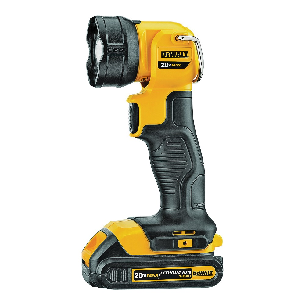 Picture of DeWALT DCL040 Rechargeable Flashlight, Lithium-Ion Battery, LED Lamp, 110 Lumens, 11 to 25 hr Run Time