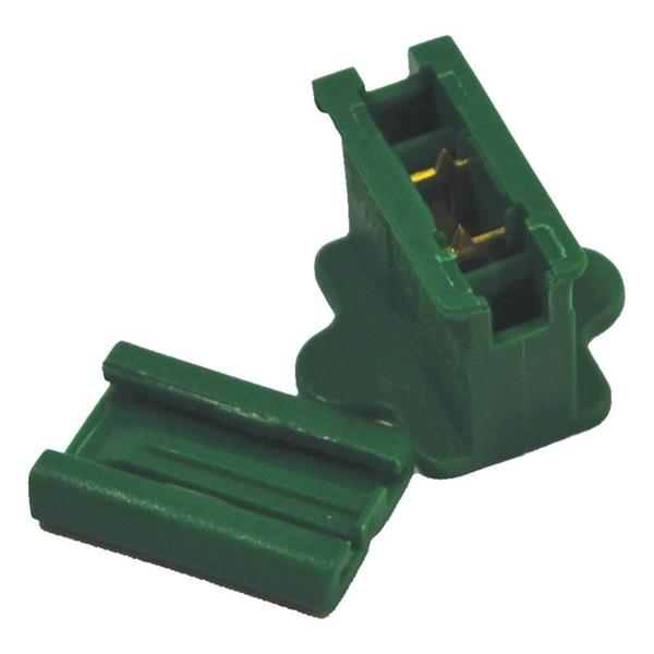 Picture of Holiday Bright Lights ZPLG-I Inline Outlet Slide Plug, Green, For: C9 18 AWG SPT-1 Cord, 25, Bag