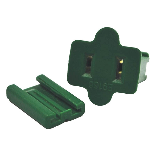 Picture of Holiday Bright Lights ZPLG-F Slide Plug, Female, Green, For: C7 and C9 18 AWG SPT-1 Cord, 25, Bag