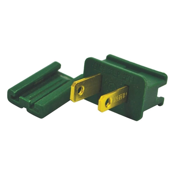 Picture of Holiday Bright Lights ZPLG-M Slide Plug, Male, Green, For: C7 and C9 18 AWG SPT-1 Cord, 25, Pack