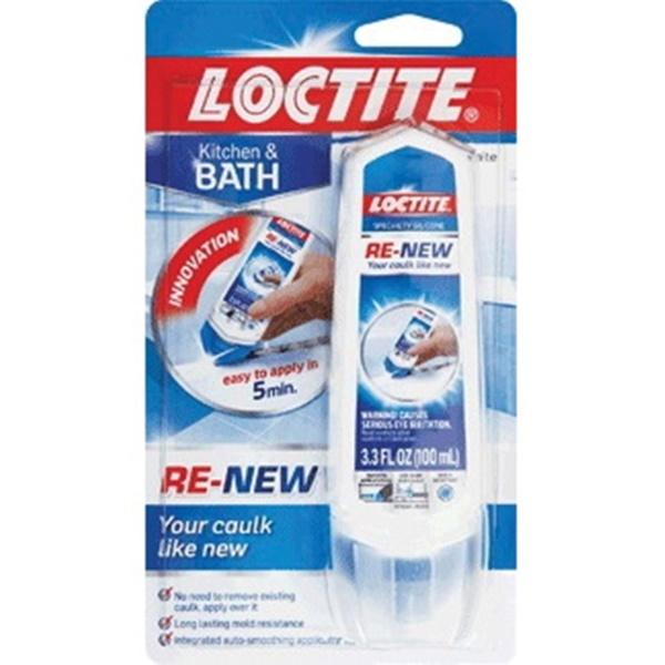 Picture of Loctite RE-NEW 2158772 Specialty Silicone Sealant, White, 24 hr Curing, 41 to 104 deg F, 3.3 oz Package